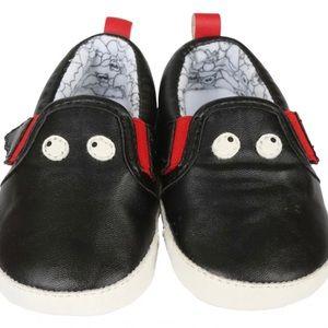 Rosie Pope Black Bat Crib Shoes Man Made Leather
